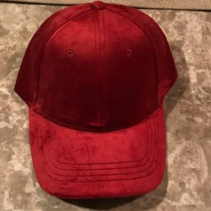 Forever 21 velvet burgundy baseball adjustable hat